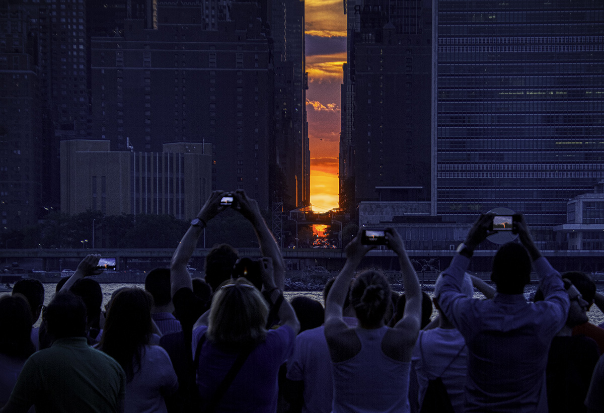 Five Photos of ManhattanHenge
