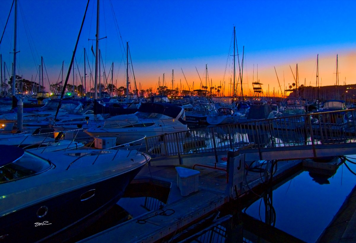 Bedtime for Sailboats