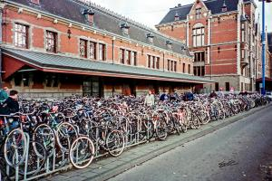 Bikes at Amsterdam Train Station